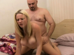 Blonde Has Missionary Fuck On Bed