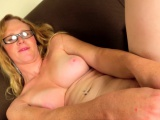 Mature postop shemale toying pussy on camera