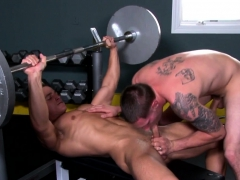 Gym Jocks Cocksucking Each Other