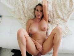 horny-stepmom-massages-stepson-huge-cock