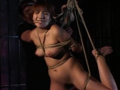 Traditional JAV shibari rope binding with naked schoolgirl anjinha –