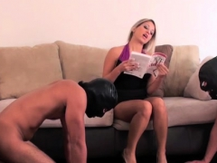 naughty domme spanks her bondman untill body is stiped red WWW.ONSEXO.COM