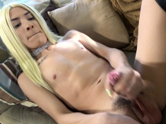 Young Oriental Shemale Filmed At Casting