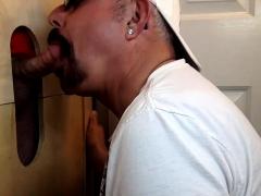 Sucking Tattooed Daddy At The Gloryhole