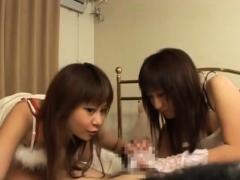 Jav Cfnm Gloved Lewd Women Handjob Play Subtitled