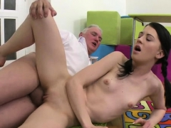 Old Dude Bonks Young Teen And Gets His Weenie Sucked Hard