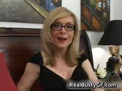 Blonde Mom In Glasses Licking Stiff Part4