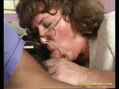 crazy old mom gets massive penis