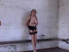 Unfaithful British Milf Gill Ellis Flashes Her Large Puppies