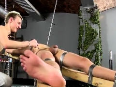 Free Gay Cum Shot Bondage Dean Gets Tickled, Steaming Wax