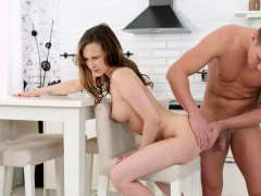 brown haired honey is nailed by her boyfriend