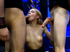 Two Big Cocks Fill Teen Rebecca Black In All The Holes