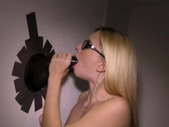 Teen Gets Gloryhole Cum