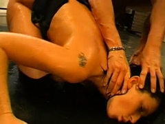 Lovely Babe's Face Hole Is Filed With Semen During Blow Bang