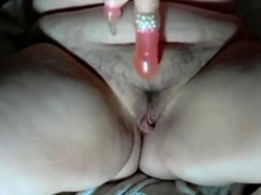 Hairy Bbw Dildoing Pussy