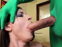 Sweet Ladyboy With Impressive Cock Gets Anal Opening Spoiled