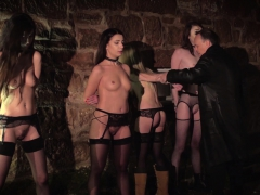 4 Slaves Punished And Humiliated By Master He Fucks And Slap