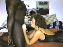 British Wife In Body Stockings Enjoys 9 Inch Black Dick