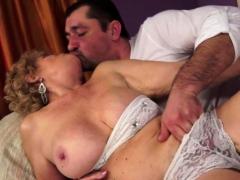 Busty Grandma Having Oral Sex