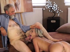 OLD4K. Enticing blonde with ease seduces her old…