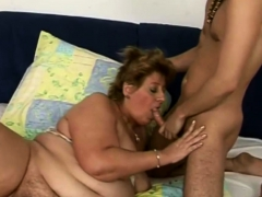 Fat Mature Slut Fucked by a Stud