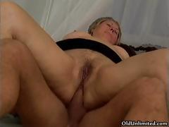 Thick Grey Old Lady Gets Her Ass Fucked Part5