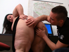 big butt plumper gets nailed in the office
