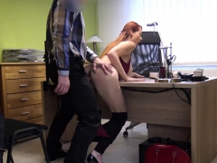 Loan4k. Agent In Credit Company Loves Boobs Of His...