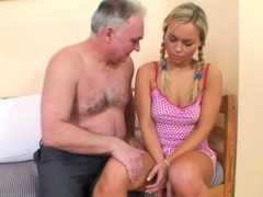Sexy Attractive Teen Drilled An Older Man