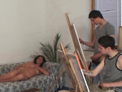two-young-painters-fuck-her-old-pussy