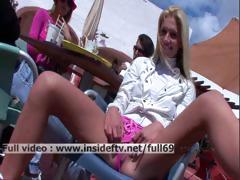 Suzanna _ Amateur Blonde Toying With Her Pussy In A Public