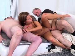 Desperate Teen Riana G Screws Dirty Old Men