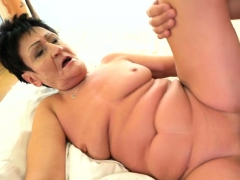 Tongued Pensioner Fucked