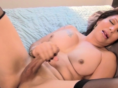 lingeried-shemale-goddess-wanks-hardcock-solo
