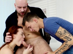 Bisex Guy Jizzes In Mouth