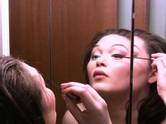 Busty Chick Shaves Her Hairy Pussy