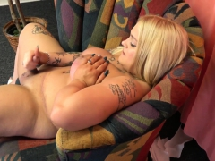 Curvy Blonde Bbw Gets Her Cock Out Solo