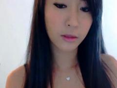 cutest asian webcam chick striptease