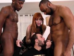 hung black men sharing a bi curious man in front of his wife سكس محارم ,جماعى ,سكس