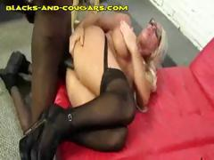 Big Titted Cougar Gets Black Anal