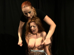 big titted sub babe vagina tormented by mistress