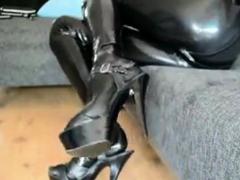 Latex Tight Shiny Catsuit Porn Video