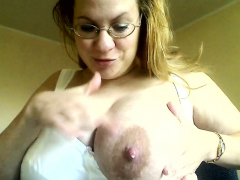 big milky lactating breast