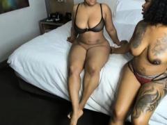 Fat Ebony Lesbian Duo With Toys