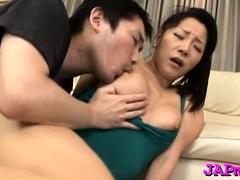 Salicious asian babe's vagina gets team-fucked unfathomable