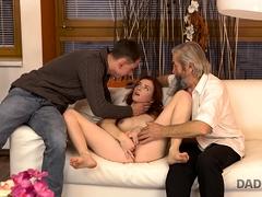 Daddy4k. Mature Dad Of Boyfriend Tastes Teen Pussy And...