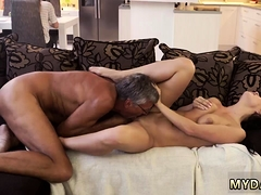 Blowjob made him cum quick and very mature grannies