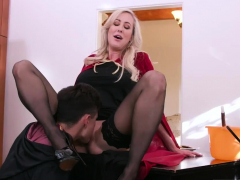 Mom Boss's Playmate Maid First Time Halloween Special