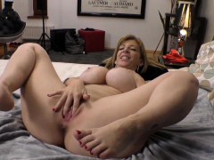 Busty Milf Toys In Show