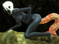 3D Elf Gives Birth To Monsters!